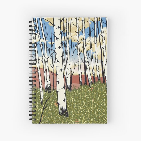 Edge of the Aspens Spiral Notebook
