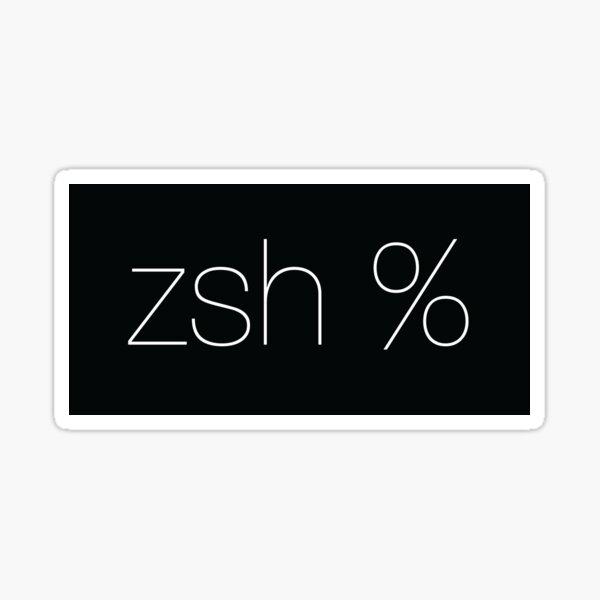 zsh Sticker