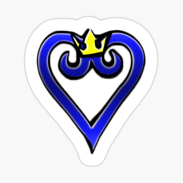 Heart with Crown Sticker