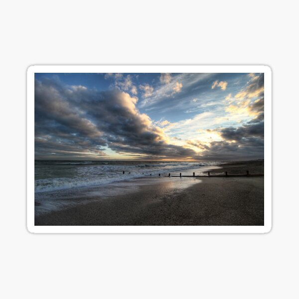 Low-Tide Evening Seascape Sticker