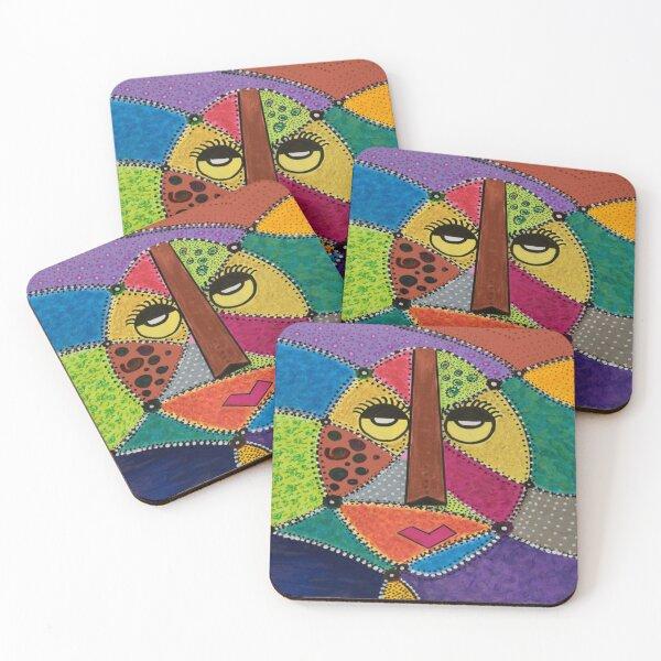 African Jamaican Princess Coasters (Set of 4)
