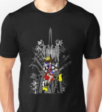 Kingdom Hearts: Game of Hearts Color Slim Fit T-Shirt