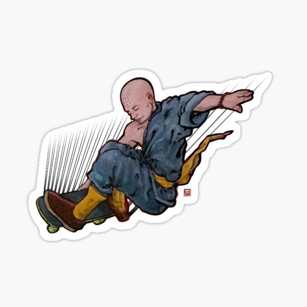 Shaolin Skater Sticker