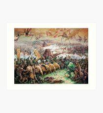 Fantasy Battle Art Print