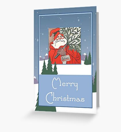 A Traditional Merry Christmas Greeting Greeting Card