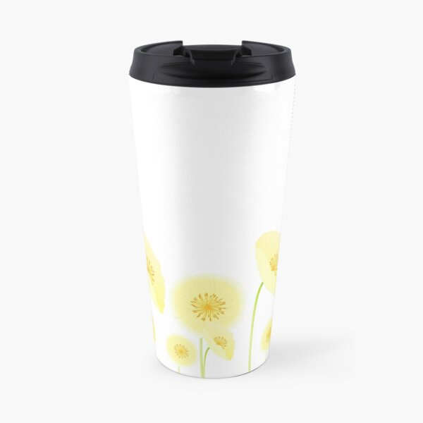 Pretty Yellow Flowers Travel Mug