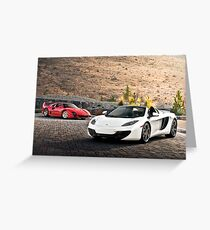 F40 and MP4-12C Spider Greeting Card