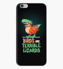 Birds Are Terrible Lizards iPhone Case
