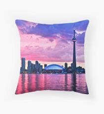 Toronto skyline Throw Pillow