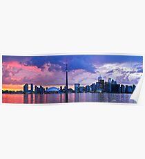 Toronto skyline panorama Poster