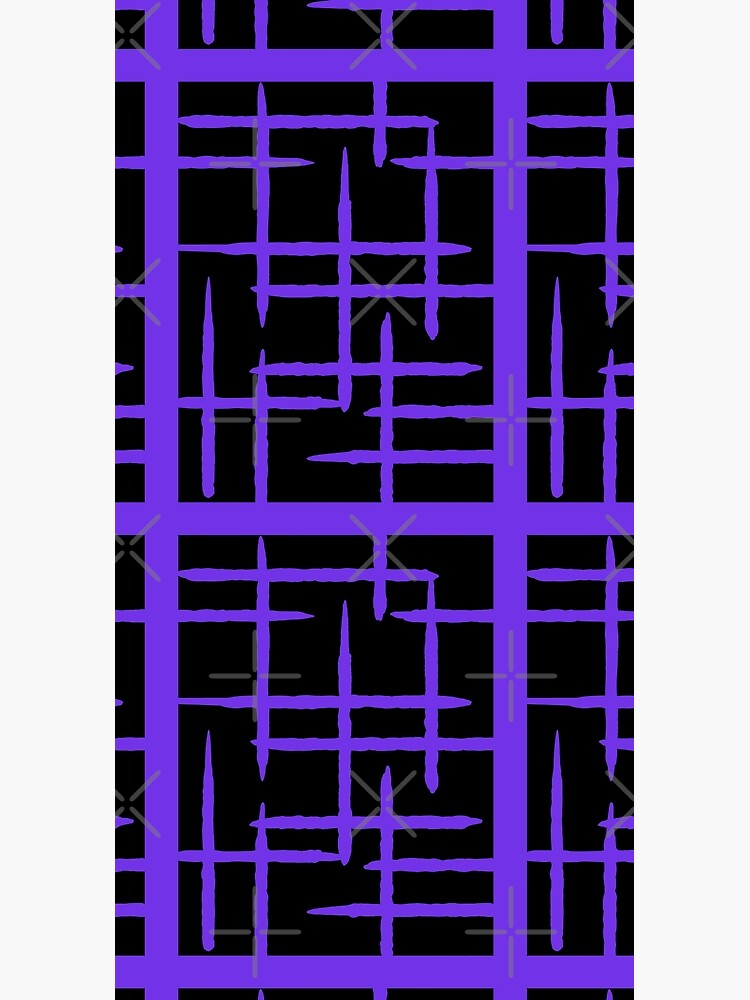 PURPLE  AND BLACK GEOMETRIC LINES   PATTERN by VICTIMRED