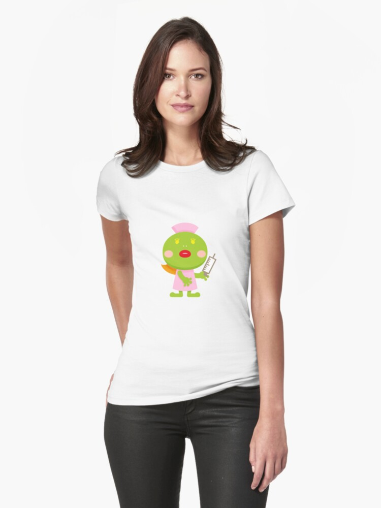 frog blonde nurse and syringe classic t shirt by ankomando redbubble