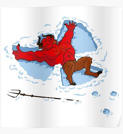 """I Wish I Were"" Snow Devil Poster"