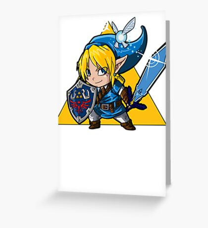 Blue HERO Greeting Card