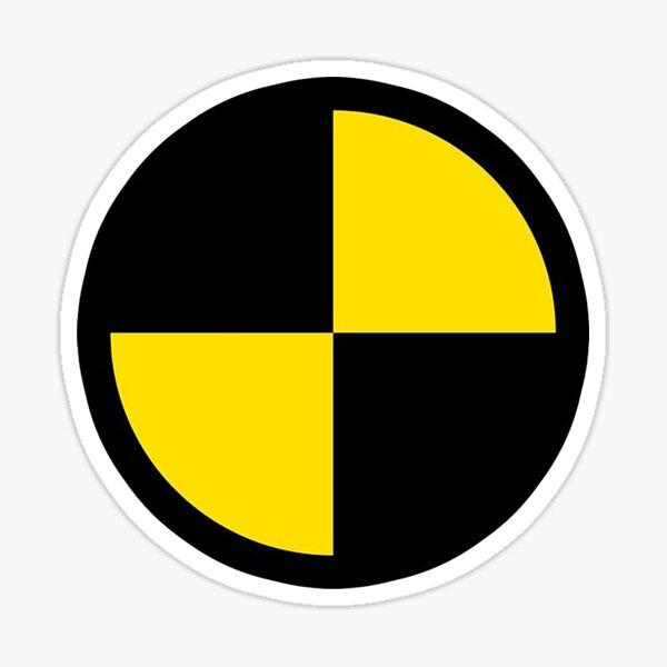 Crash test dummy Sticker