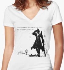 Marvelous Chester Women's Fitted V-Neck T-Shirt