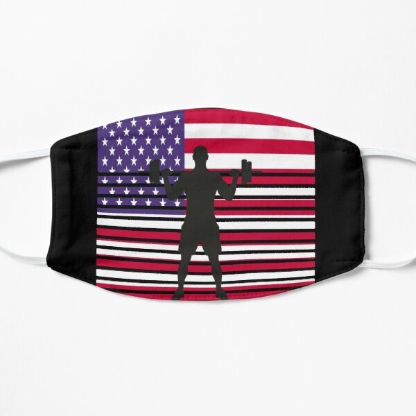 bodybuilding dumbbell usa flag workout musculation Mask