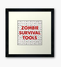 Zombie Survival Tools Framed Print