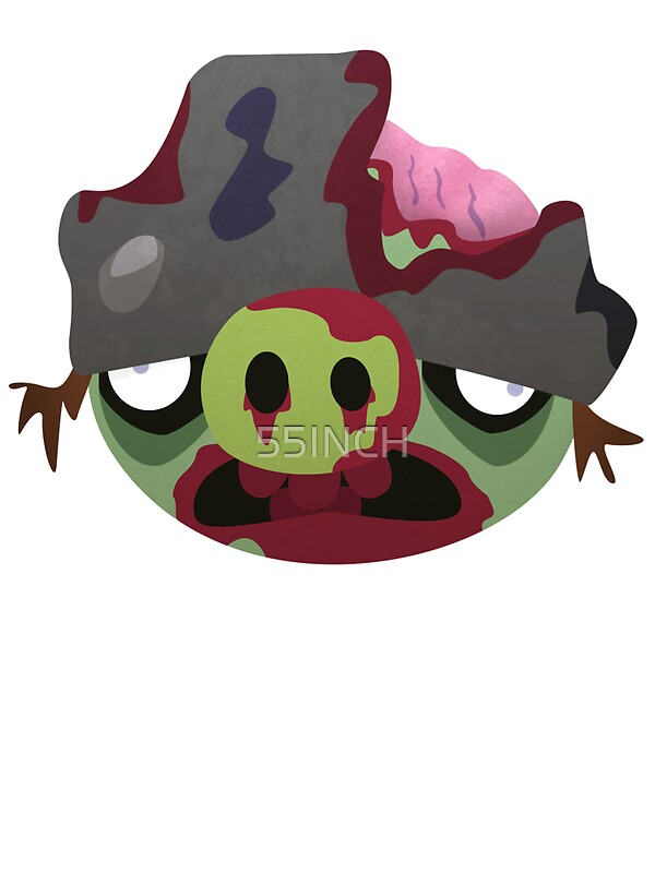 Quot Zombie Helmet Pig Quot Stickers By 55inch Redbubble