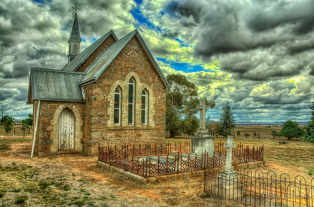 Old Time Religion - Ilandra Chapel - Riverina NSW- The HDR Experience by Philip Johnson