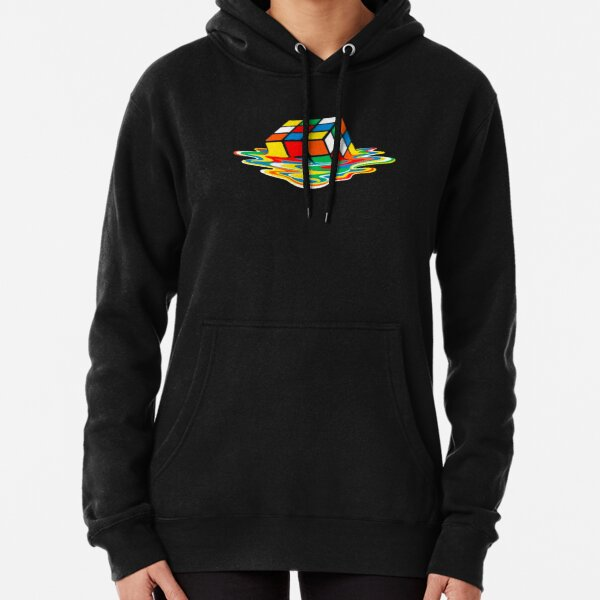 Melting Rubiks Cube Pullover Hoodie
