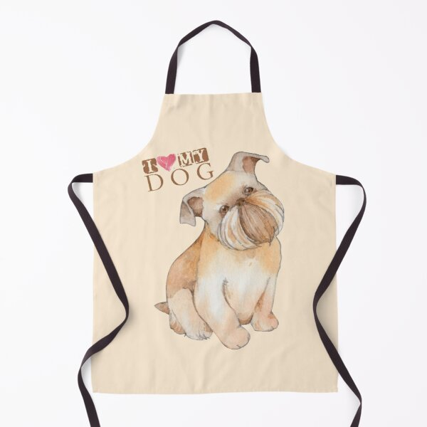 Griffon Bruxellois I Love My Dog Apron
