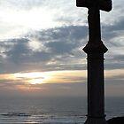 Memorial Cross at Freshwater West by Paul  Green
