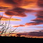 Sunset from my bedroom by Paul  Green
