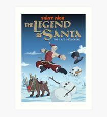 Legend of Santa Art Print