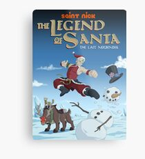 Legend of Santa Metal Print