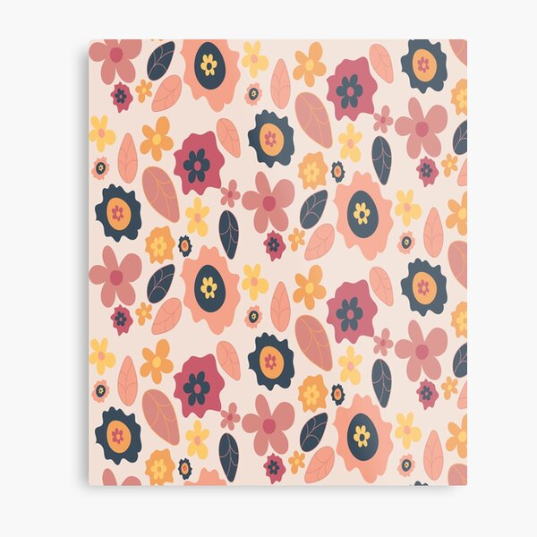 Quirky Flowers Metal Print