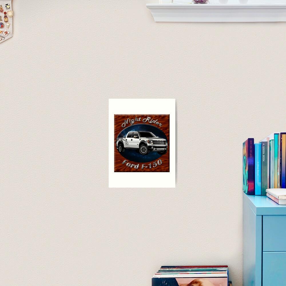 Ford F-150 Truck Night Rider Art Print