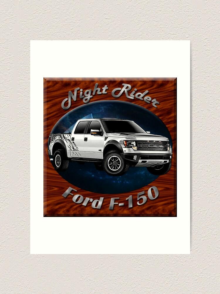 Alternate view of Ford F-150 Truck Night Rider Art Print