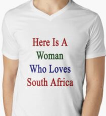Here Is A Woman Who Loves South Africa  T-Shirt
