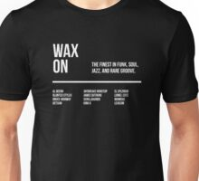 Wax On Flier - Text Only White Unisex T-Shirt
