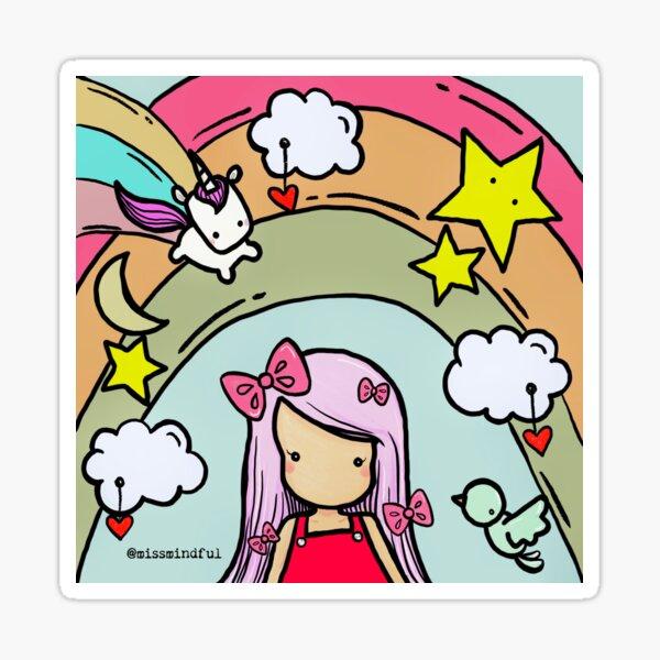 Miss Mindful's Happy World Sticker