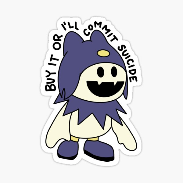 Buy It or I'll Commit Suicide - Fairy Jack Frost Sticker