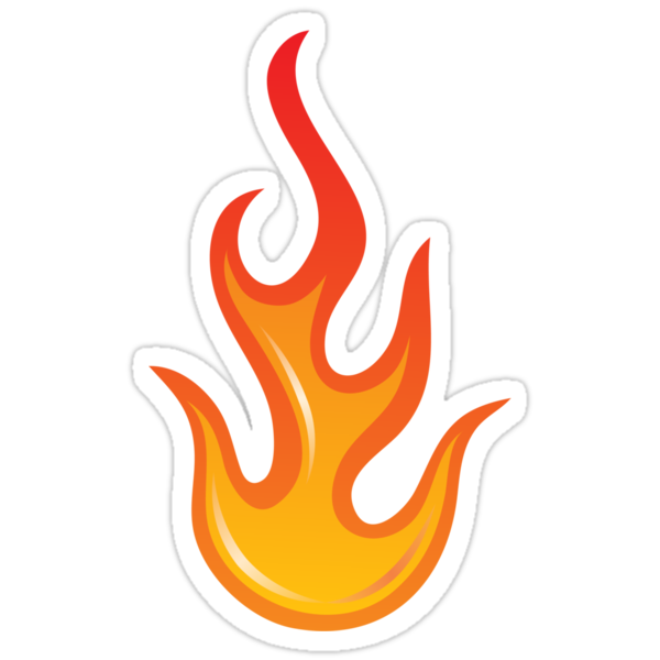 Quot Flame Fire Sticker Quot Stickers By Mhea Redbubble