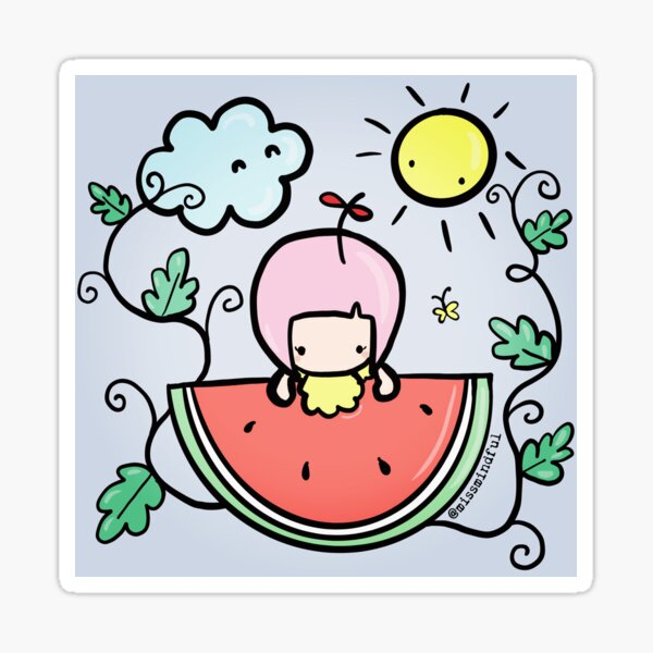 Happy Watermelon Day Sticker