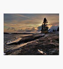 Lake Superior near Thunder Bay Photographic Print