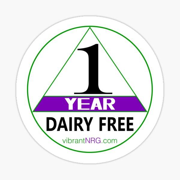 1 Year DAIRY FREE Sticker