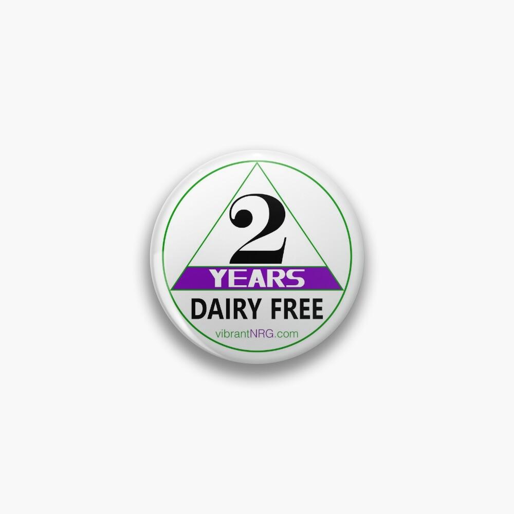 2 Years DAIRY FREE Pin