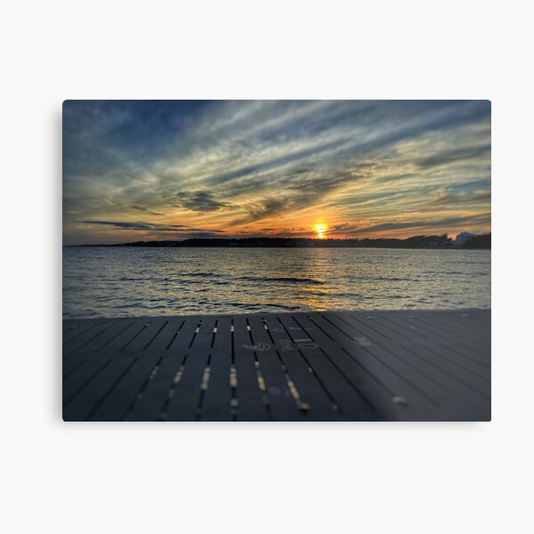 Camp Alby Sunset Metal Print