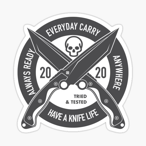 Have a Knife Life Sticker
