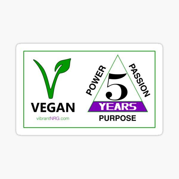 5 Years VEGAN Sticker