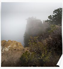The Rare Grand Canyon covered with puffy fog Poster