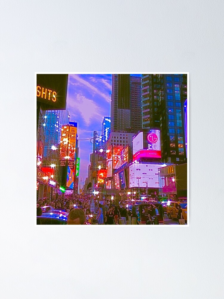 New York City Indie Aesthetic Photo Poster By Samar N Redbubble
