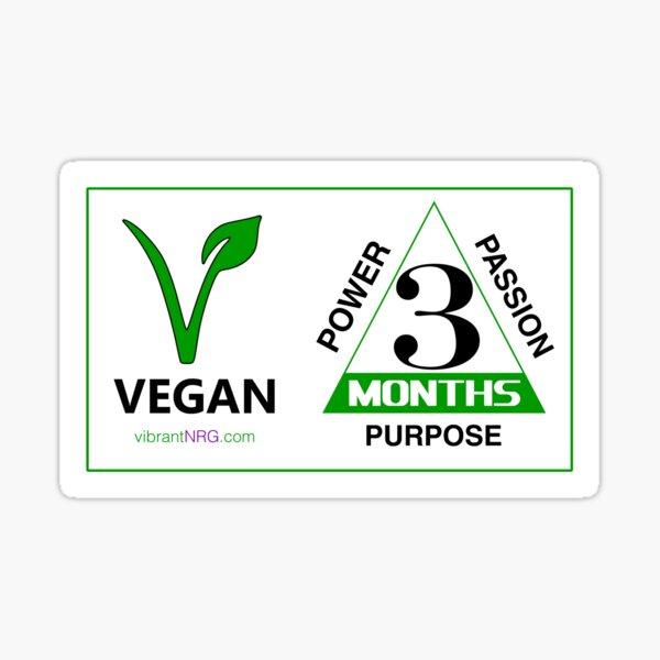 3 Months VEGAN Sticker