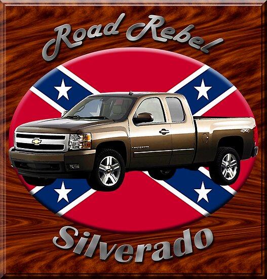 Chevy Silverado Truck Road Rebel by hotcarshirts