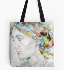 VIRGINIA WOOLF - watercolor portrait.4 Tote Bag